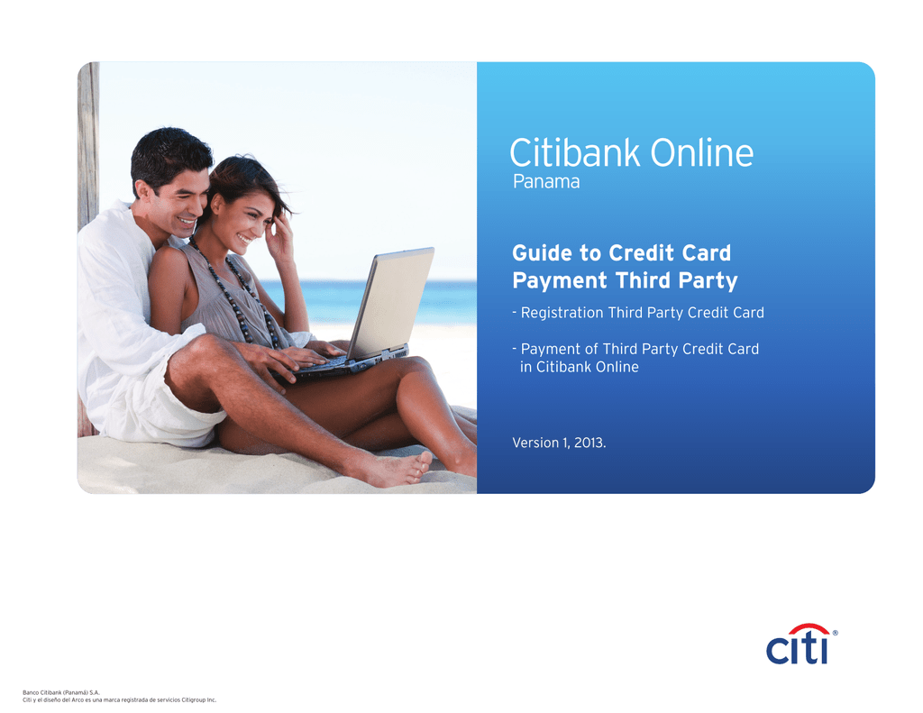 Citibank Credit Card Payment Online >> Payment Of Third Party Credit Cards Citi English