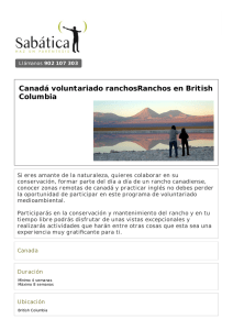 Canadá voluntariado ranchosRanchos en British Columbia