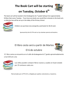 The Book Cart will be starting on Tuesday, October 6 th