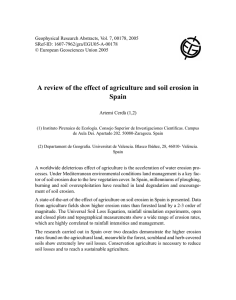 A review of the effect of agriculture and soil erosion in Spain