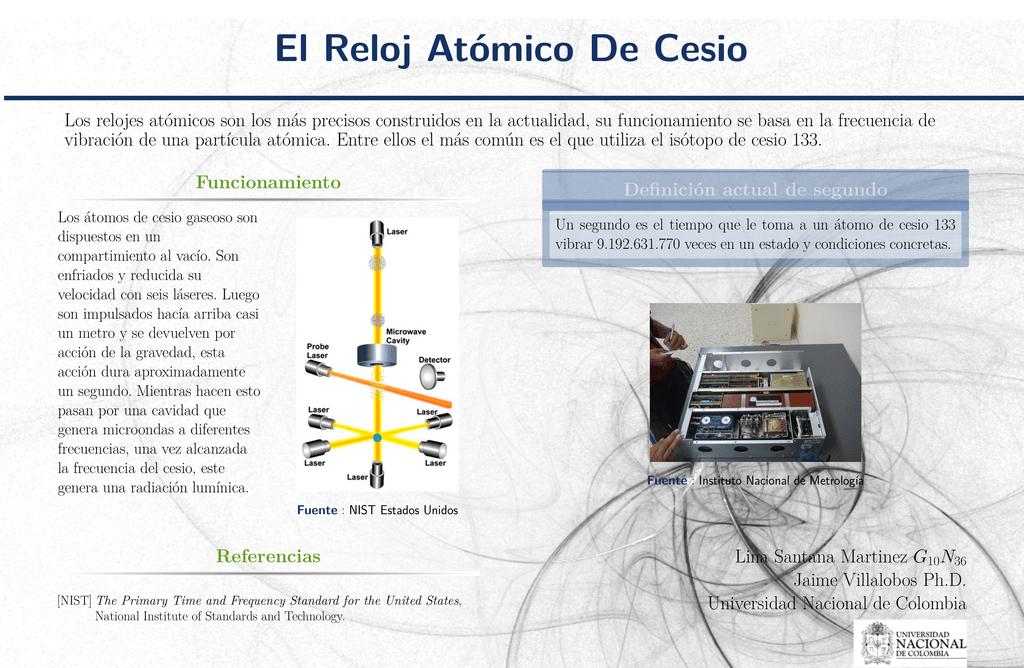 9aef0350007f El Reloj Atómico De Cesio Los relojes atómicos son los más precisos  construidos en la actualidad