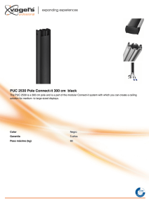 PUC 2530 Pole Connect-it 300 cm black