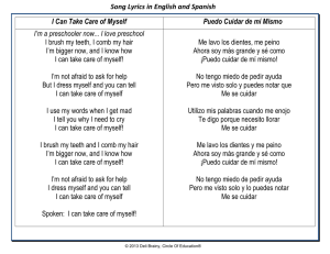 Song Lyrics in English and Spanish I Can Take Care of Myself