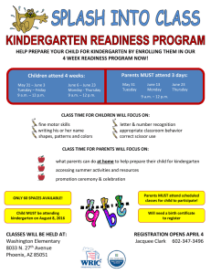 help prepare your child for kindergarten by enrolling them in our 4