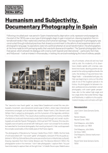 Humanism and Subjectivity. Documentary Photography in Spain