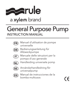 General Purpose Pump