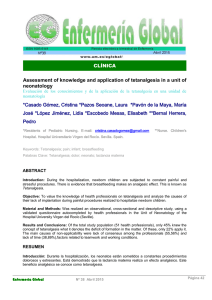 Assessment of knowledge and application of tetanalgesia in a unit of
