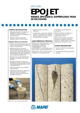 Inyepox pdf for Mapei epojet