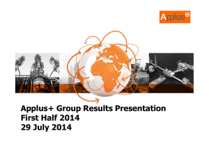 Applus+ 2014 Half Year Results Presentation v3