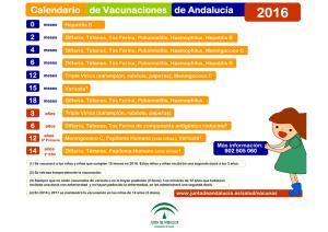 Calendario Vacunal Andalucia.Calendario Vacunal De La Junta De Andalucia