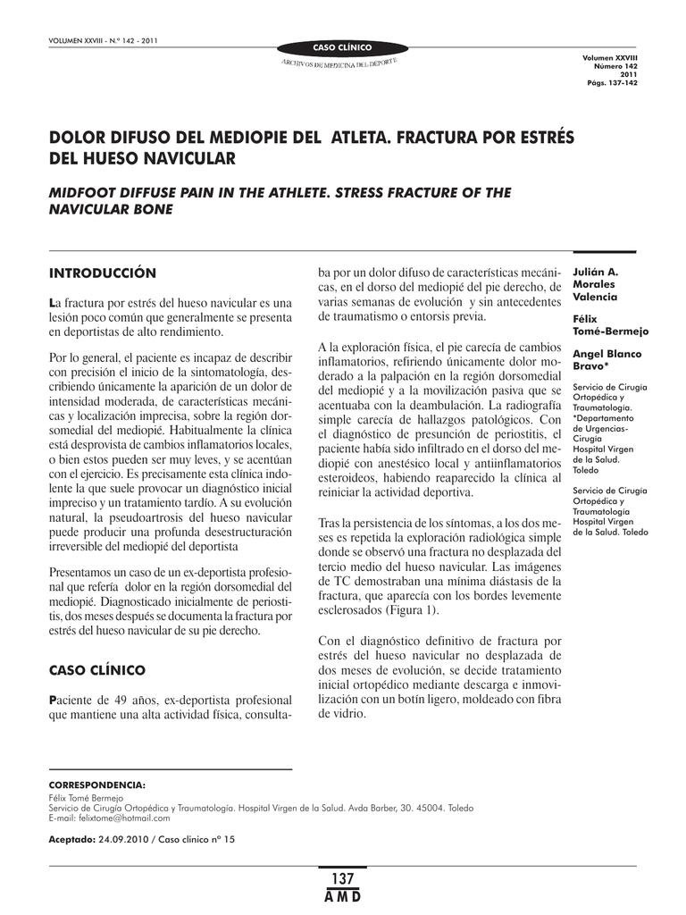 Caso clinico.indd - Archivos de Medicina del Deporte