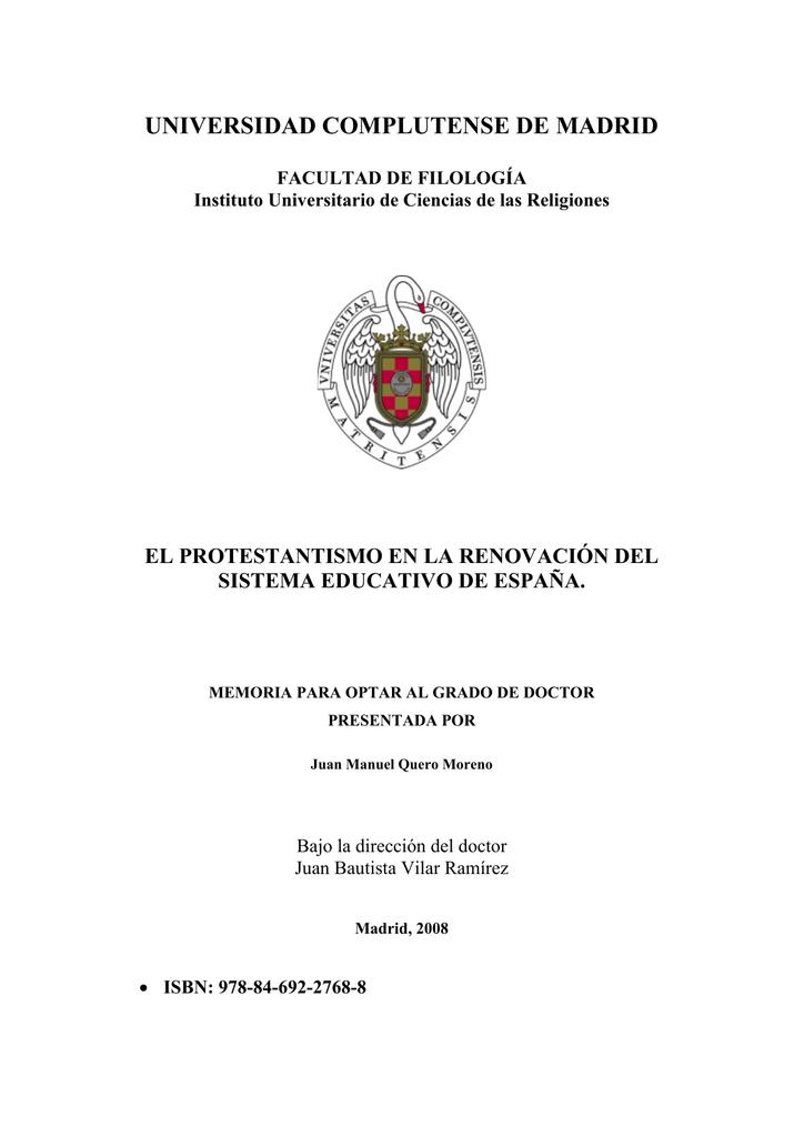 Del En Protestantismo De Educativo España El Renovación Sistema La R3ALj45