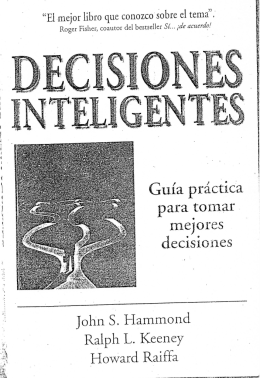 Decisiones Inteligentes - Hammond, Keeney y Raiffa
