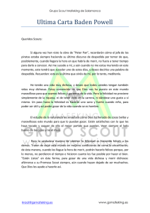 Ultima Carta Baden Powell