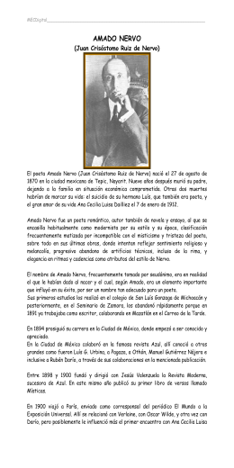 Visiones Fantasticas En La Prosa Literaria De Amado Nervo