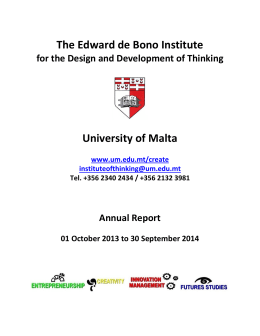 The Edward de Bono Institute University of Malta