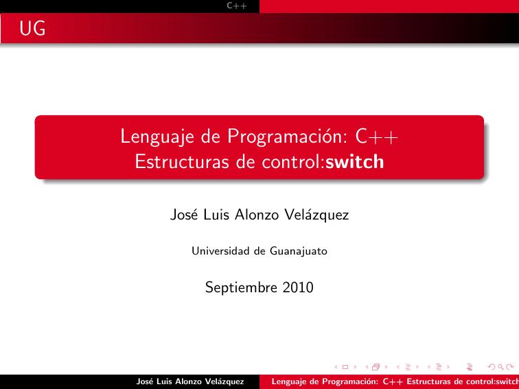 Lenguaje De Programación C Estructuras De Control Switch