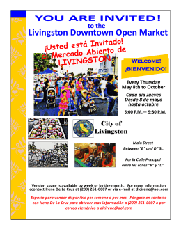 Livingston Downtown Open Market