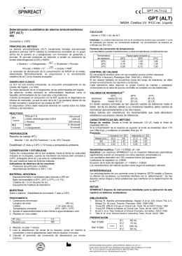 ALT/GPT BR - LINEAR CHEMICALS