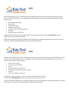 KMS KMS - Kids First Health Care