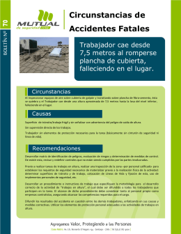 Circunstancias de Accidentes Fatales