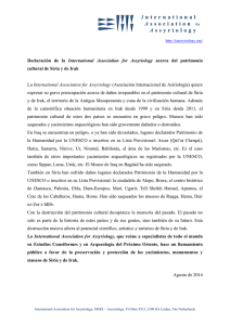 Declaración de la International Association for Assyriology acerca