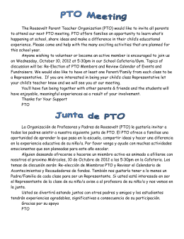 The Roosevelt Parent Teacher Organization (PTO)