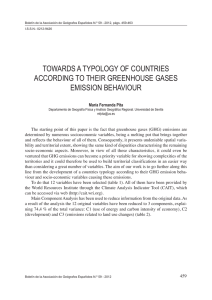 towards a typology of countries according to their greenhouse gases
