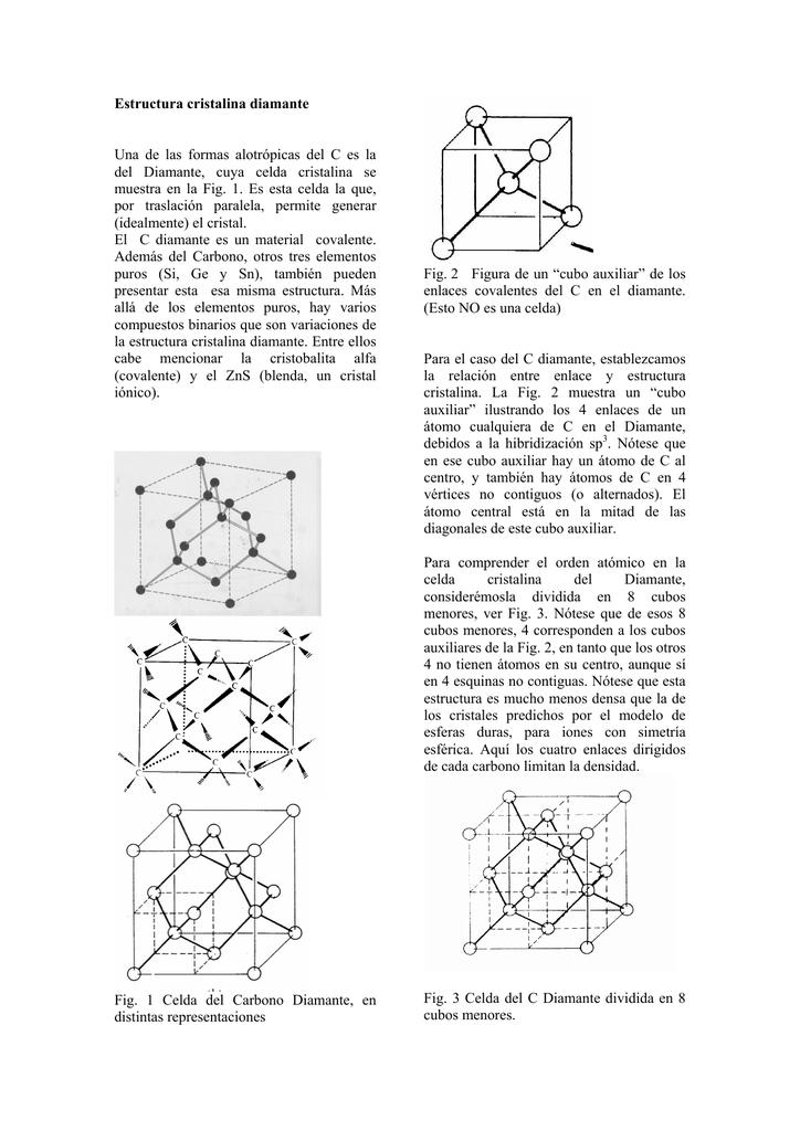 Estructura Cristalina Diamante Una De Las Formas Alotrópicas