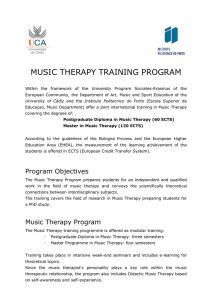 music therapy training program