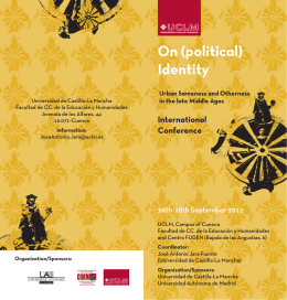 Díptico On political identity - Universidad de Castilla