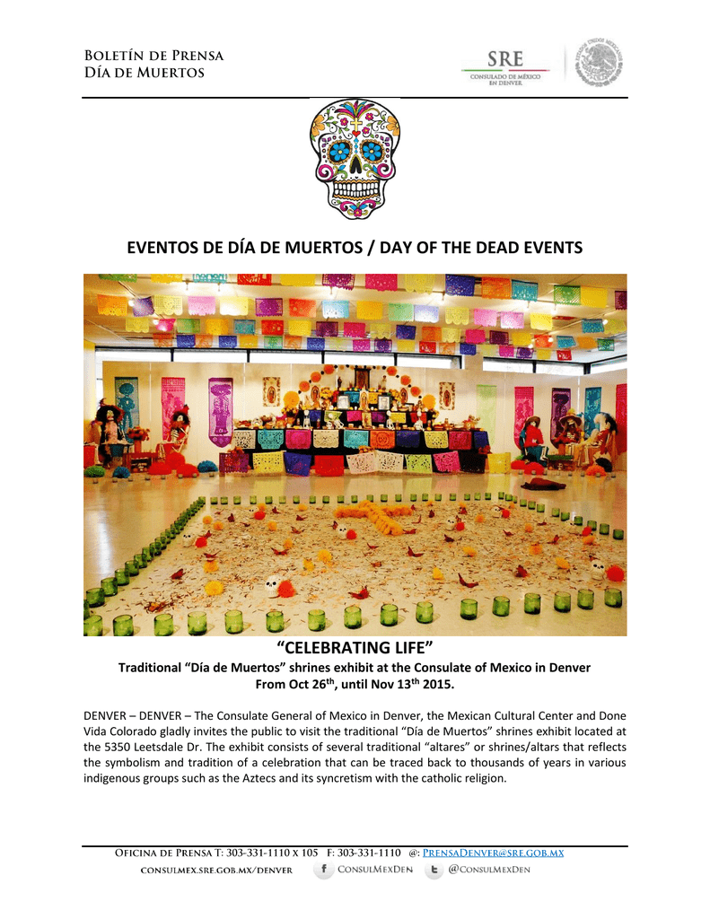 eventos de día de muertos / day of the dead events