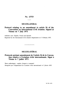 No. 13753 MULTILATERAL Protocol relating to an amendment to
