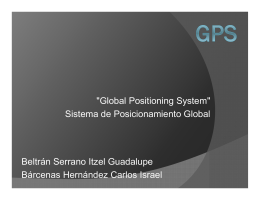 """Global Positioning System"" Sistema de Posicionamiento Global"