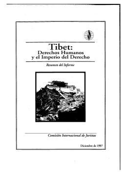 Tibet - International Commission of Jurists