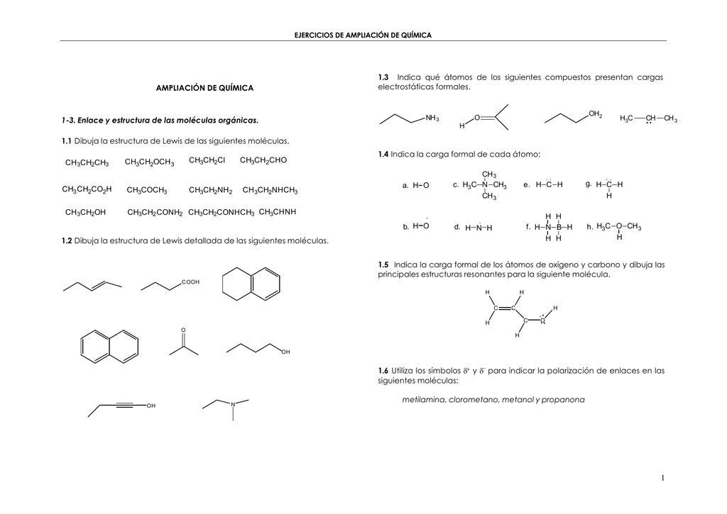 Ampliación De Química 1 3 Enlace Y Estructura De Las