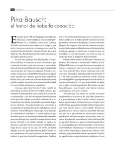 Escénicos Y Bausch CuerpoEfectos Literarios Pina AjL54qR3