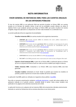 Visor general de instancias XBRL - Oficina Virtual