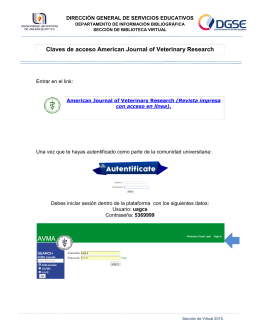 Claves de acceso American Journal of Veterinary Research