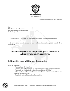 Distintos Reglamentos, Requisitos que se llevan en la