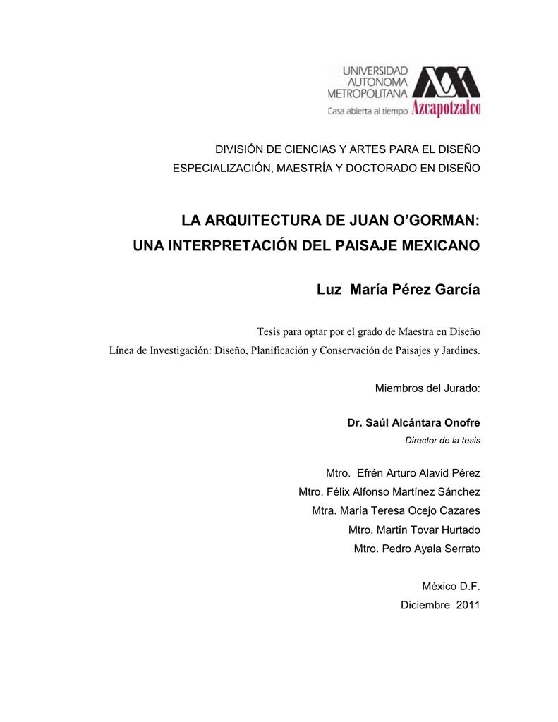 LA ARQUITECTURA DE JUAN O`GORMAN
