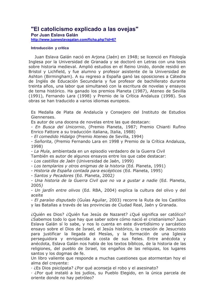 0520e58163b El catolicismo explicado a las ovejas