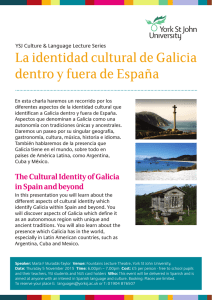 The Cultural Identity of Galicia in Spain and beyond