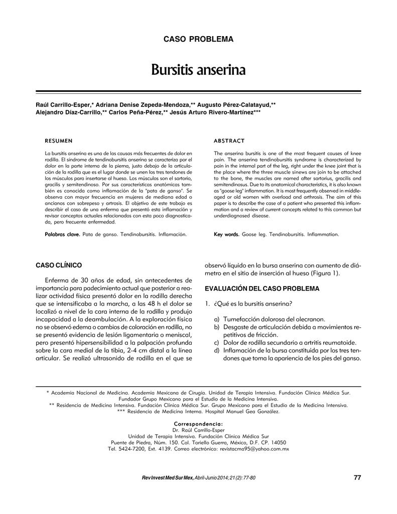 Bursitis anserina