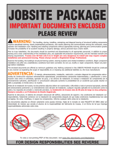 IMPORTANT DOCUMENTS ENCLOSED