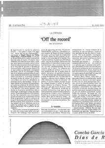 Off the record - Diarios de Arcadi Espada