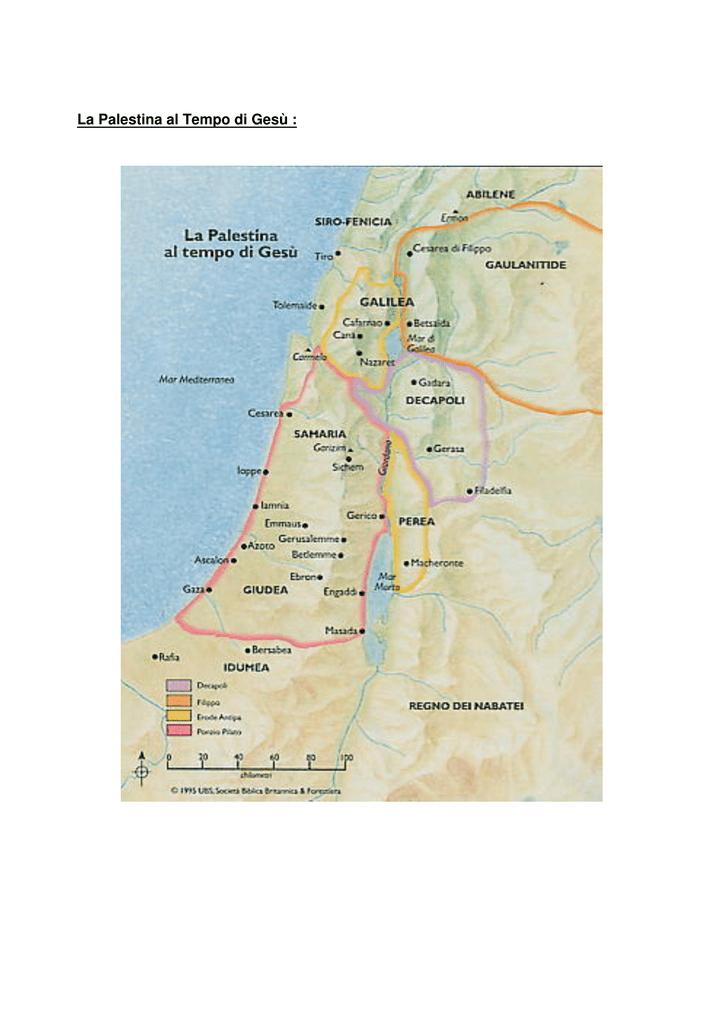 Cartina Fisica Palestina.La Palestina Al Tempo Di Gesu Parrocchia San Giuseppe Sposo