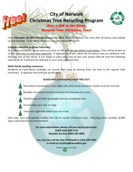City of Norwalk Christmas Tree Recycling Program