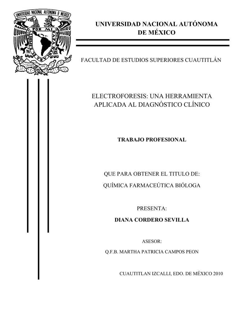 universidad nacional autónoma de méxico electroforesis
