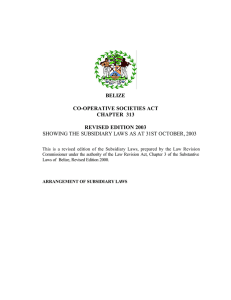CAP. 313, CO-OPERATIVE SOCIETIES ACT